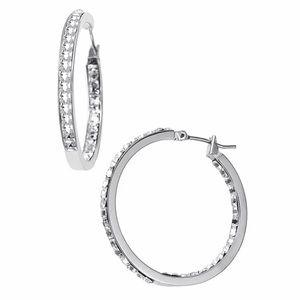 MICHAEL KORS • Silver Inside Out Hoop Earrings